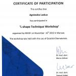 Certyfikat ukończenia szkolenia Dr Agnieszka Laskus